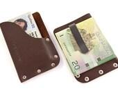 Mini Wallet - Dark Brown Leather