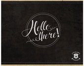 INSTANT DOWNLOAD - Vintage Hello There Calligraphy Chalkboard Style - Blog or Website Graphic