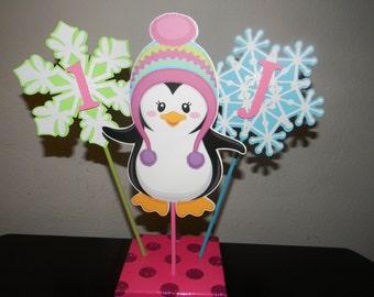 Penguin Centerpiece - Set of 3