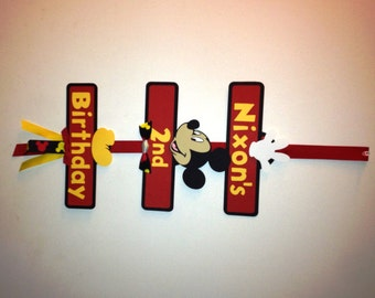 Mickey Mouse Party Sign