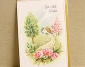 Vintage Card 1950s Cottage Paper Ephemera Scrapbooking