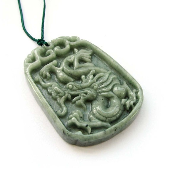 talisman jadeite jade mythical celestial dragon amulet