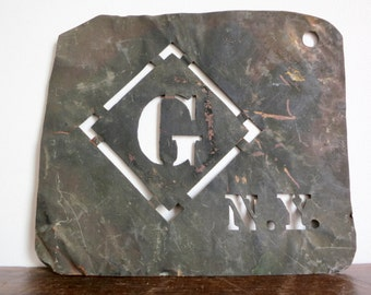 Antique NY Freemasons Stencil
