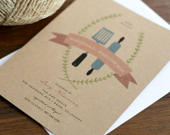 Bridal Shower Invitation - Stock the Kitchen