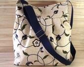 Crossbody Bag Diaper Bag Messenger Bag  Blue Beige Shoulder Bag School Teacher Bag