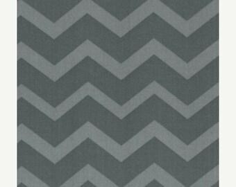 Chevron- Charcoal Grey on Grey Tonal - Fat Quarter - FQ