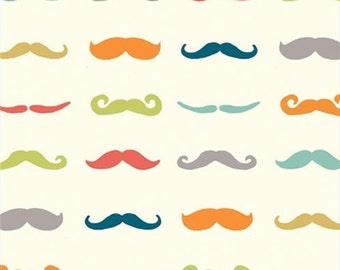 Staches - Multi - Just For Fun - BTY- GOTS Certified Organic