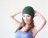 Emerald green Women crochet beanie, Winter hat for women, Crochet hat, lightweight beanie hat, winter trend hat