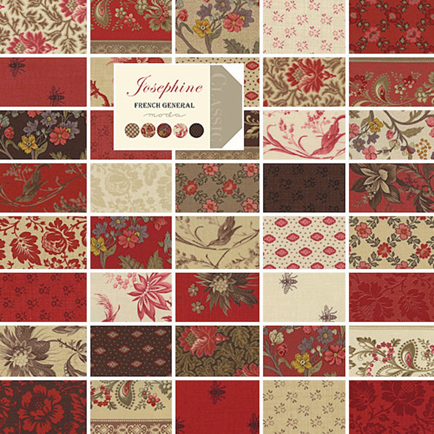 Moda Josephine Charm Pack By French General 42 5