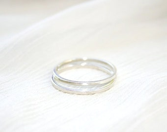 2 STERLING SILVER Rings Size 4 and 5