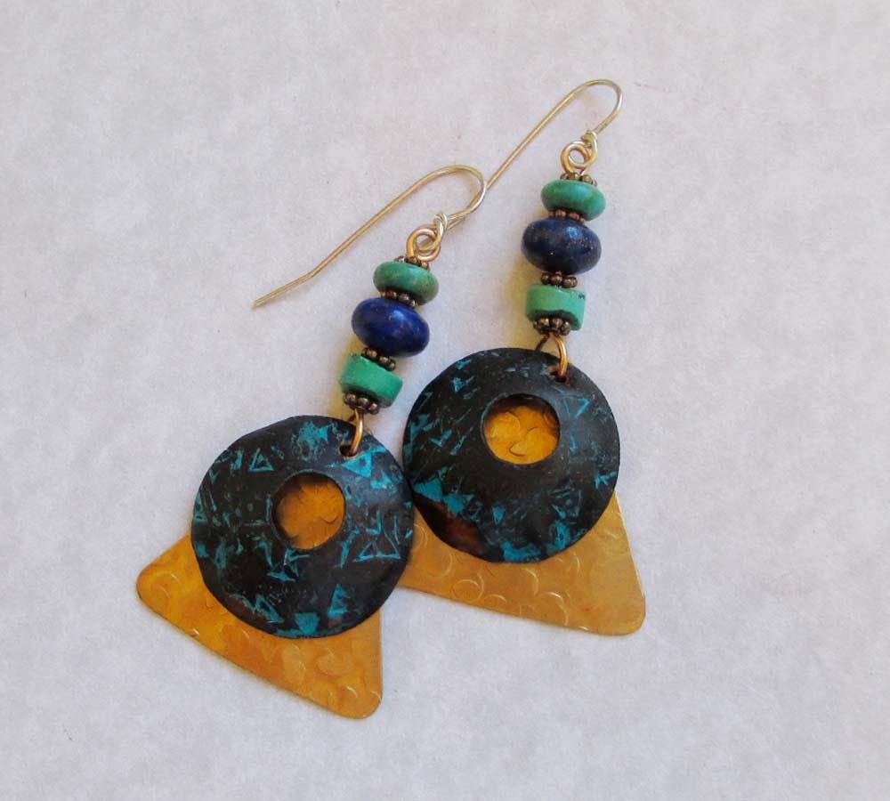 Blue Lapis Earrings Turquoise Earrings Egyptian by ...