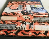 "Halloween Quilted Table Runner – Scaredy Cat ""Boo"""