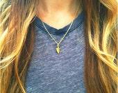 Tiny Hammered Arrowhead Necklace