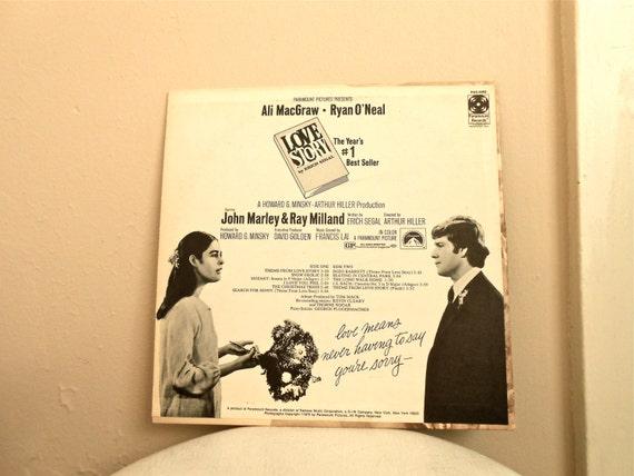 1970s Love Story Soundtrack On Vinyl Album By