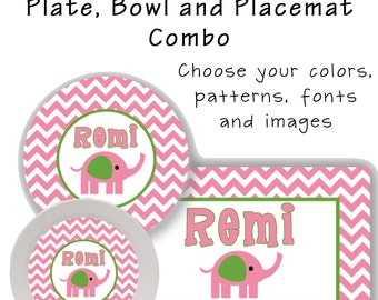 Plate Bowl and Placemat Combo - Design your own