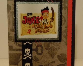 """Handmade """"Jake and the Neverland Pirates"""" Birthday Card"""