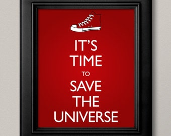 10th Doctor Inspired Converse Poster
