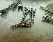 Special Order for Dione/12 Eiffel Tower Charms Pendants Embellishments 5 x 17mm tibetan silver charms