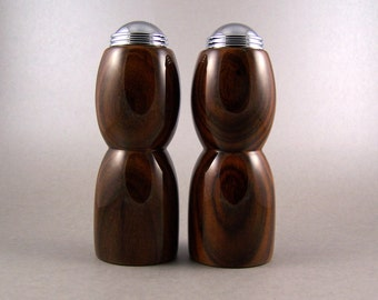Salt and Pepper Shakers - Handmade Cocobolo with chrome caps