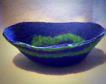 Hand felted bowls and pods, made to order