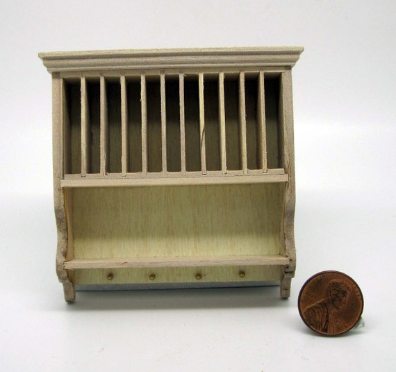 Miniature dollhouse furniture unfinished drainer cabinet code 1123