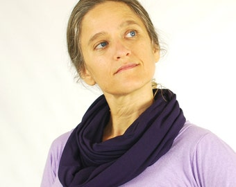 Circle Scarf - Eggplant - Infinity Scarf - Eco Friendly - Purple - Organic Clothing