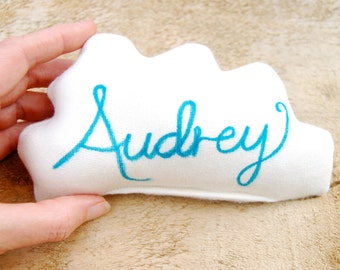 Personalized Cloud Pillow - Organic Cotton - Personalized - Lavender Sachet - Organic Baby - Dream Pillow
