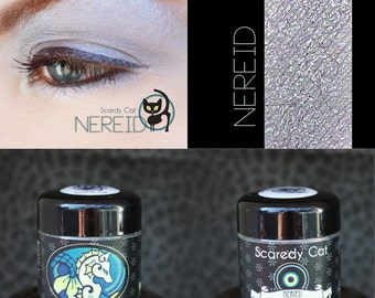 Silver-Violet Mineral Eye Shadow  Scaredy Cat - Nereid - 5 mL Sifter