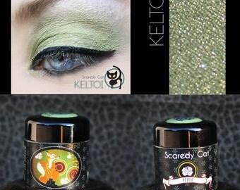 Green Eye Shadow - Vegan - Loose Mineral Pigment Eyeshadow - SCAREDY CAT - KELTOI - 5 mL Sifter