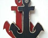 large anchor wood nautical