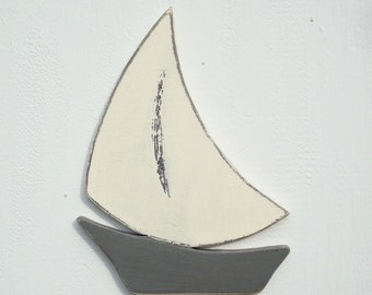 wood sailboat nautical art