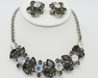 Juliana Black Diamond Necklace and Earring Set by DeLizza and Elster