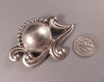 Vintage Sterling Los Castillo Taxco Mexico Flower Brooch