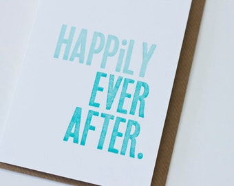 Letterpress Wedding Card: Happily Ever After
