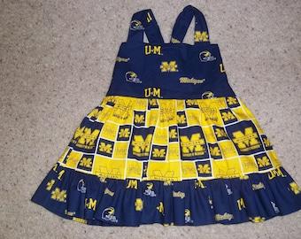 University of Michigan Boutique Ruffle Dress