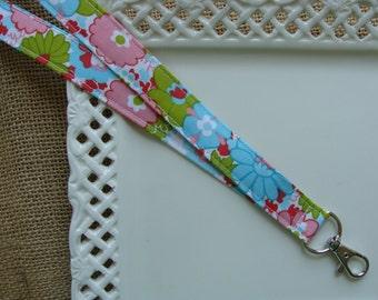 Fabric Lanyard - Bright Spring Flowers