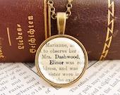 Elinor Dashwood - Small Literature Necklace