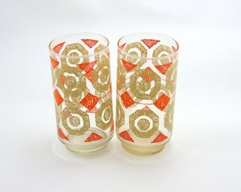 Vintage Pair Octagon Motif Glasses-Retro Glasses