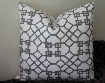 "Windsor Smith for Kravet -Pelagos in Haze/Grey - 16"" - 22"" Square Sizes - Decorative Designer Pillow Cover"