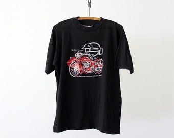 FREE SHIP  vintage motorcycle t-shirt,  ADI