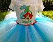 Little Mermaid Birthday Tutu Outfit- Personalized