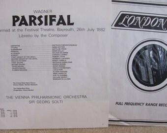 "Vintage Richard Wagner's ""Parsifal"" Opera Classical Music Vinyl Record Albums - 5 records - Vienna Philharmonic - Vienna Boys Choir"