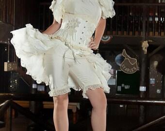 Silk Wedding Bustle BURLESQUE   STEAMPUNK Bridal By Gothic Burlesque