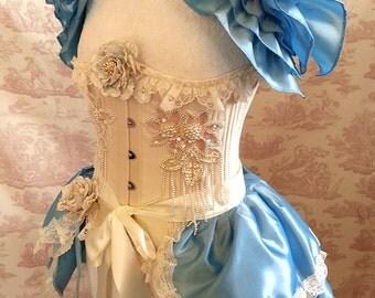 Let Them Eat Cake Burlesque  Bustle Skirt  ansd Shrug SET Lolita Dance.