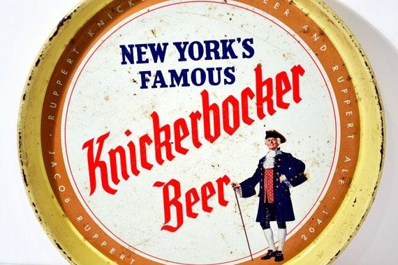Vintage New York S Famous Knickerbocker Beer Serving Tray