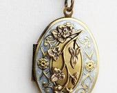 Cherry Blossom,Autumn Locket,Fall,Locket,Brass Oval Locket,Flower Locket,Flower,Wedding Necklace,bridesmaid necklace