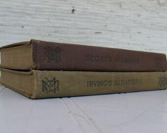 MacMillans Pocket Classics - Scott's Ivanhoe 1916 and Irving's Alhambra 1914