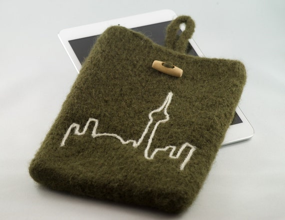 Lynn's Lids felted wool Toronto iPad sleeve