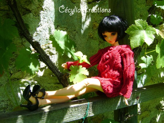 19. French and english knitting pattern PDF - Dress and bag for Ellowyne Wilde