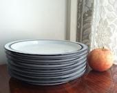 Vintage Dansk Bistro Christianshavn Blue Salad Plates Japan 1980 (4 available)